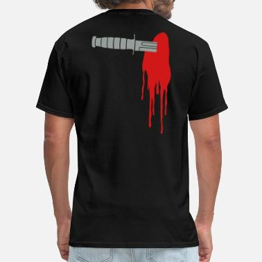 Knife In The Back KA-BAR Backstabber - Men's T-Shirt