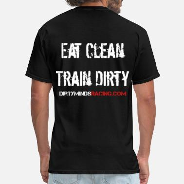 Obstacle Eat Clean, Train Dirty w/ sleeve - Men's T-Shirt