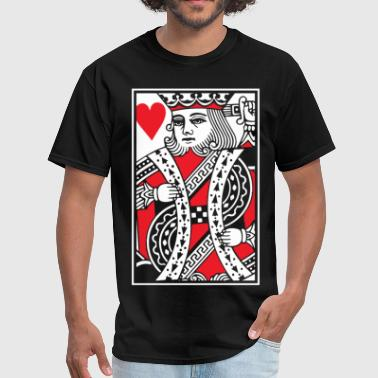 Card King Kings of Hearts - King Card - Men's T-Shirt