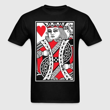 Kings of Hearts - King Card - Men's T-Shirt