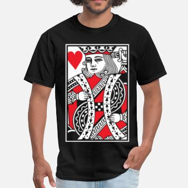 Playing Card King Design Kings of Hearts - King Card - Men's T-Shirt