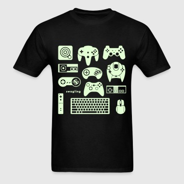 Button Masher  *glow-in-the-dark - Men's T-Shirt