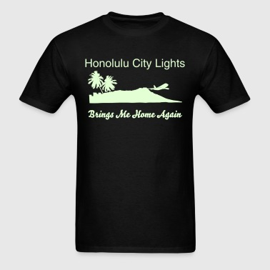 Diamond Head Hawaii Honolulu City Lights - Men's T-Shirt
