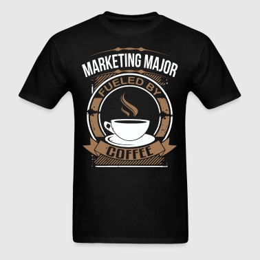 Marketing Major Fueled By Coffee Funny T-Shirt - Men's T-Shirt