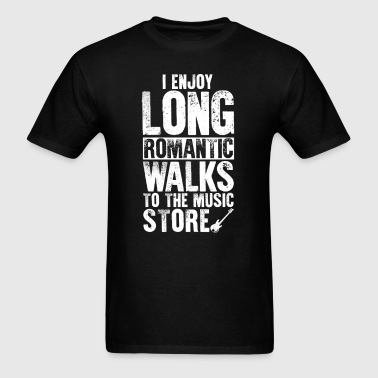 Bass Guitar Long Romantic Walks T-Shirt - Men's T-Shirt