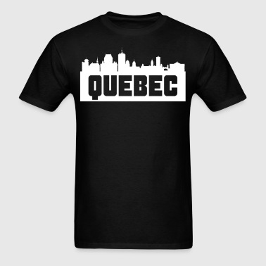 Quebec City Skyline Silhouette - Men's T-Shirt
