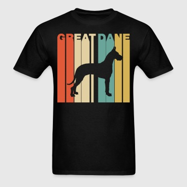 Retro Style Great Dane Silhouette Dog Owner - Men's T-Shirt