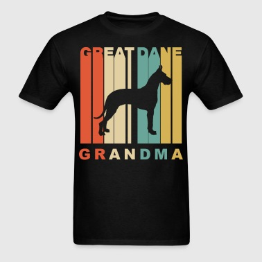 Retro Style Great Dane Grandma Dog Grandparent - Men's T-Shirt