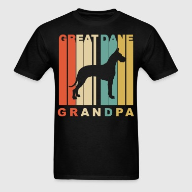 Retro Style Great Dane Grandpa Dog Grandparent - Men's T-Shirt