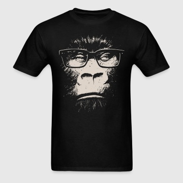 Hipster Gorilla With Glasses - Men's T-Shirt
