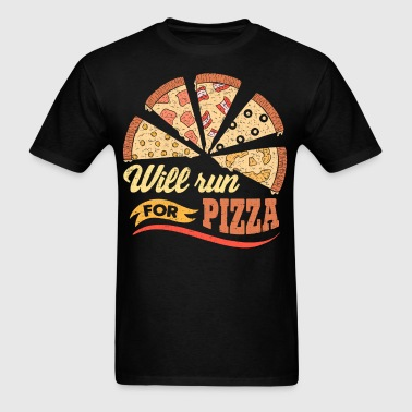 Will Run For Pizza - Men's T-Shirt