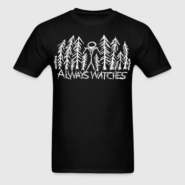 White Always Watches Slenderman T-Shirt - Men's T-Shirt