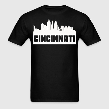 Cincinnati Ohio Skyline Silhouette - Men's T-Shirt