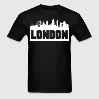 London England Skyline Silhouette - Men's T-Shirt