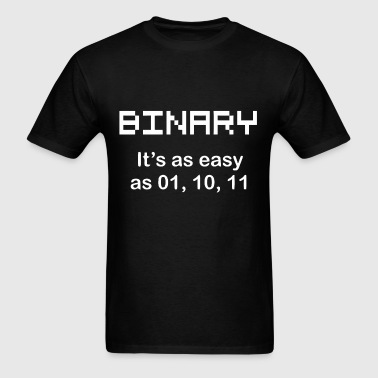 Binary joke for geeks - Men's T-Shirt