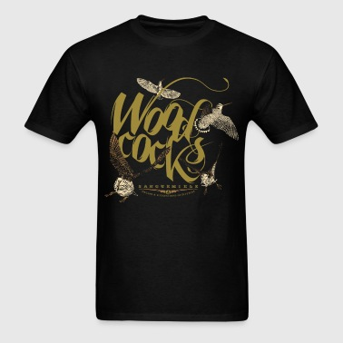 woodcocks_on_black - Men's T-Shirt