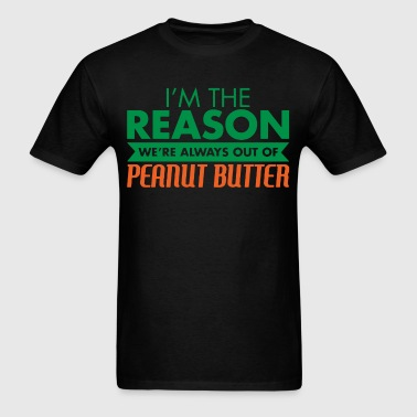 I love peanut butter - Men's T-Shirt