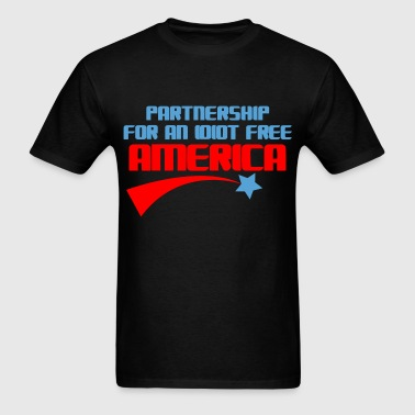 PARTNERSHIP FOR AN IDIOT FREE AMERICA - Men's T-Shirt