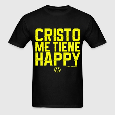 Cristo Me Tiene Happy - Men's T-Shirt