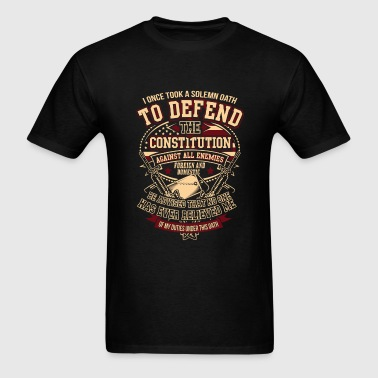 Veteran - Solemn oath to defend the constitution - Men's T-Shirt