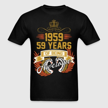 1959 59 Years Of Being Awesome - Men's T-Shirt