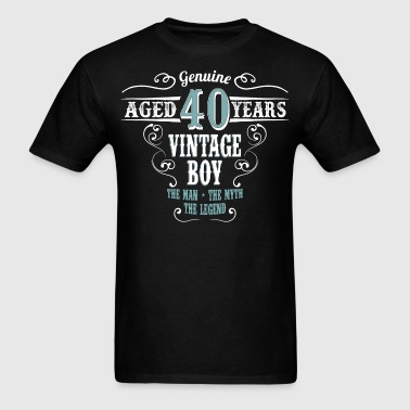 Vintage Boy Aged 40 Years... - Men's T-Shirt