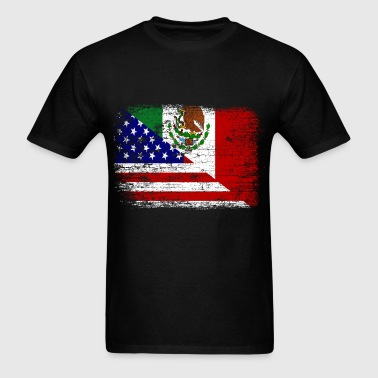 Vintage Mexican American Flag - Men's T-Shirt