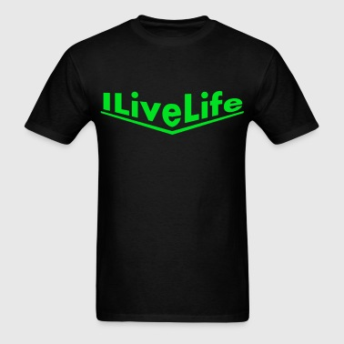 porsche green ILiveLife text.png - Men's T-Shirt