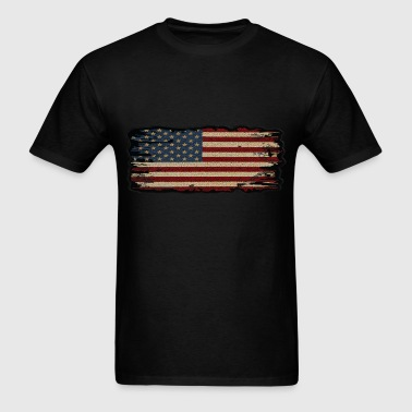 Burned edge American Flag - Men's T-Shirt