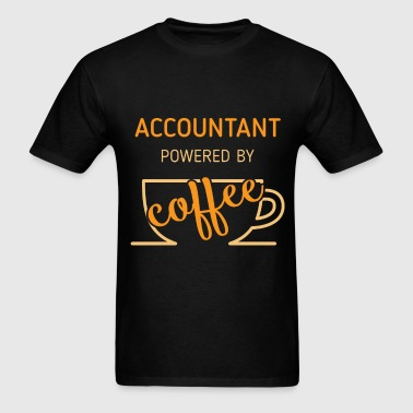 Accountant powered by coffee - Men's T-Shirt