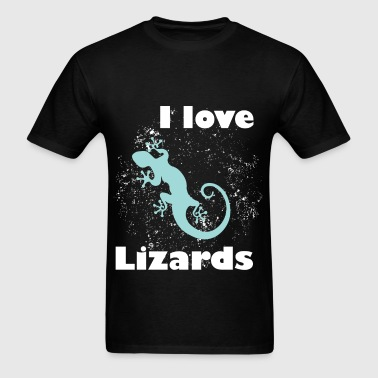I love lizards - Men's T-Shirt
