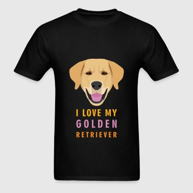 Golden retriever - I love my Golden retriever - Men's T-Shirt