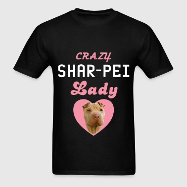 Shar-pei - Crazy Shar-pei lady - Men's T-Shirt
