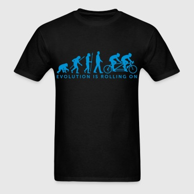 Evolution tandem bicycle - Men's T-Shirt