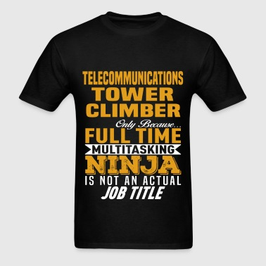 Telecommunications Tower Climber - Men's T-Shirt