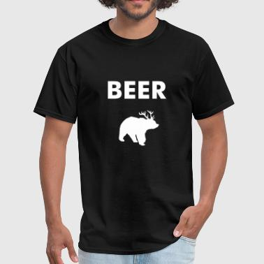 Beer Bear With Antlers bear deer beer - Men's T-Shirt