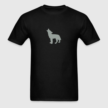 werewolf shredder full moon howling wolves white   - Men's T-Shirt