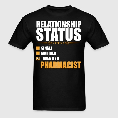 Relationship Status Single Married Pharmacist - Men's T-Shirt