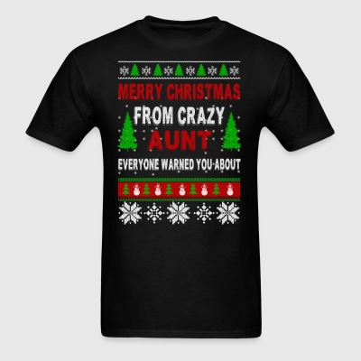 Merry Christmas From Crazy Aunt - Men's T-Shirt