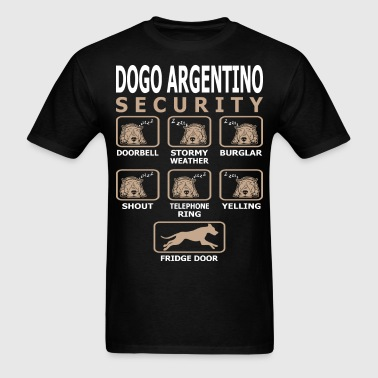 Dogo Argentino Dog Security Pets Love Funny Tshirt - Men's T-Shirt