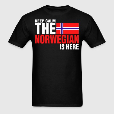 Keep Calm Fear The Norwegian Is Here - Men's T-Shirt