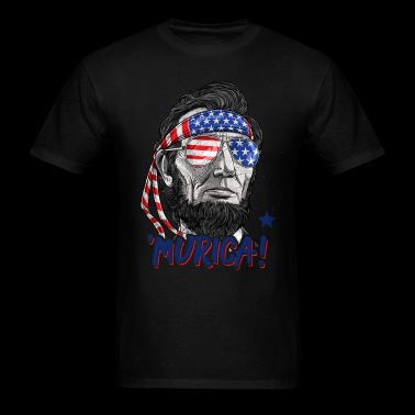 Merica Abe Lincoln T shirt 4th of July Men Boys Kids Murica - Men's T-Shirt