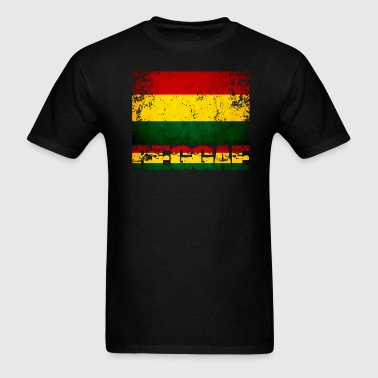 Reggae flag distressed - Men's T-Shirt