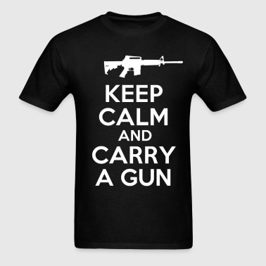keep_calm_and_carry_a_gun_tshirt - Men's T-Shirt
