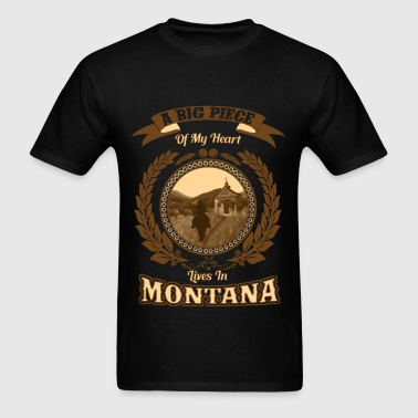 Montana – A big piece of my heart - Men's T-Shirt