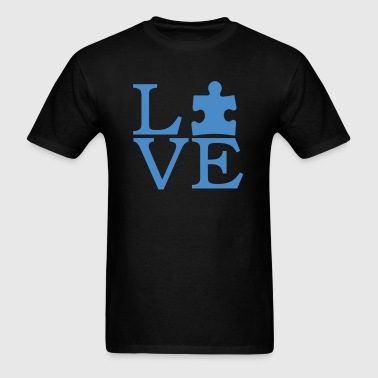 Autism Awareness T-Shirt - I Love Person With Auti - Men's T-Shirt