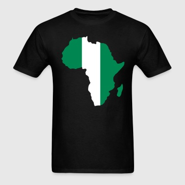 Nigeria Flag In Africa Ma - Men's T-Shirt