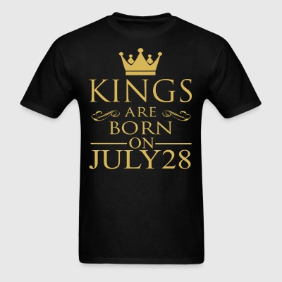 Kings are born on July 28 - Men's T-Shirt
