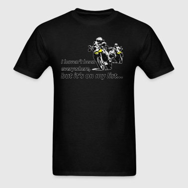Dualsport it's on my list (two riders) - Men's T-Shirt