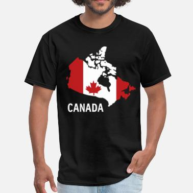 Canada Flag Map Canada flag map - Men's T-Shirt